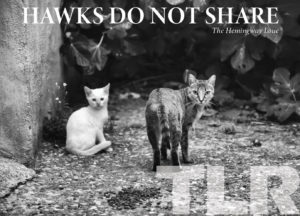 cover of the fall 2020 issue of TLR. in black and white two cats are standing outside and looking at the camera