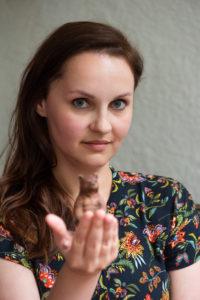 photograph of the poet Kornelia Deres