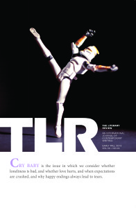 "Cover of TLR's ""Cry Baby"" issue. Cover art by Rebecca Ashley."