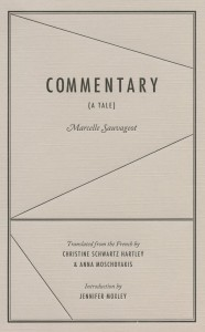 Cover of Commentary by Marcelle Sauvageot