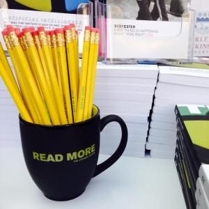 mug and pencils